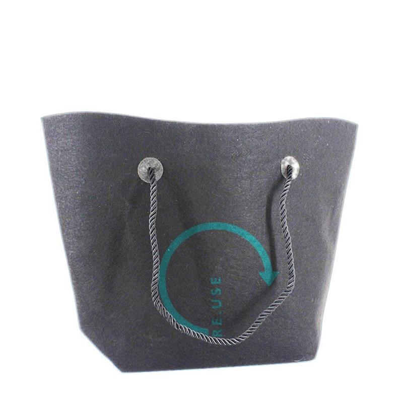 ee54c0cc2bf Mørk grå Filt TRAPEZ taske med logo 47x33cm   Fra 100 stk.   Køb online