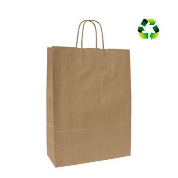 Papirspose natur recycled